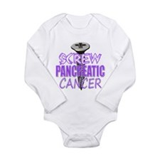 Screw Pancreatic Cancer Long Sleeve Infant Bodysui