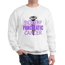 Screw Pancreatic Cancer Sweatshirt