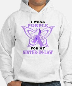 I Wear Purple for my Sister in Law.png Hoodie