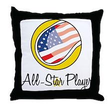 All Star Player Throw Pillow