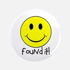 """Found It Smiley! 3.5"""" Button (100 pack)"""