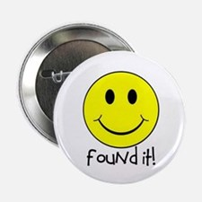 """Found It Smiley! 2.25"""" Button (100 pack)"""