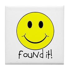 Found It Smiley! Tile Coaster