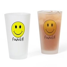 Found It Smiley! Drinking Glass