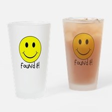 Found It Smiley! Drinking Glass