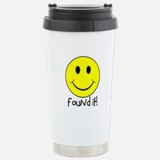 Found It Smiley! Stainless Steel Travel Mug