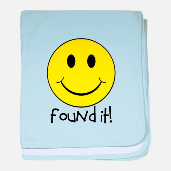 Found It Smiley! baby blanket