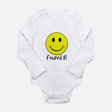 Found It Smiley! Long Sleeve Infant Bodysuit