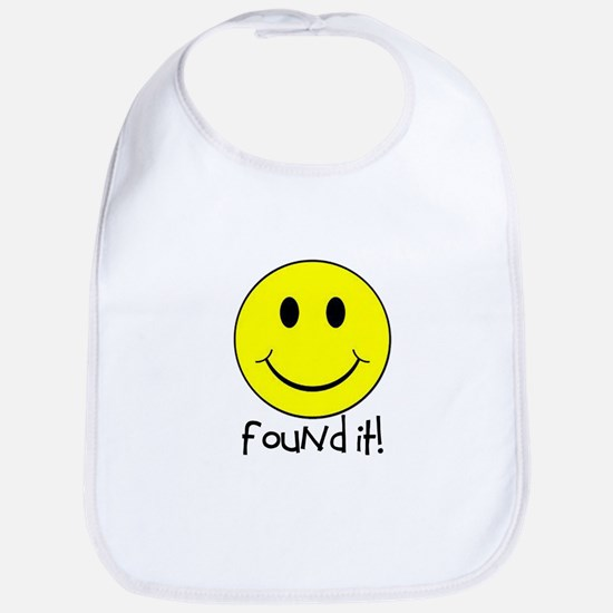 Found It Smiley! Bib