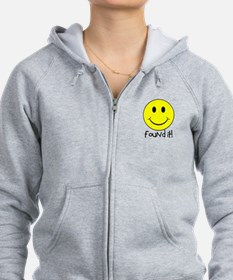 Found It Smiley! Zip Hoodie