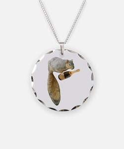 Squirrel Champagne Necklace