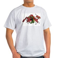 Whimsy Basset in Wreaths Ash Grey T-Shirt