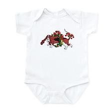 Whimsy Basset in Wreaths Infant Bodysuit