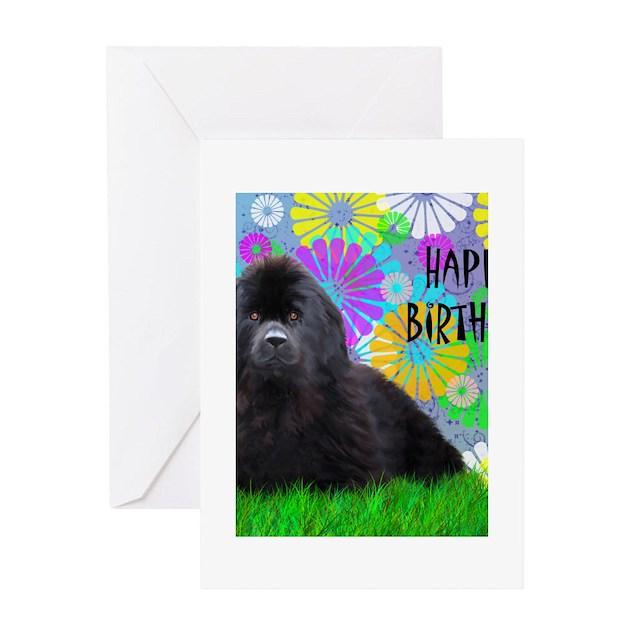 Newfoundland Dog Birthday Card Greeting Cards by Admin ...