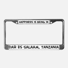Happiness is Dar es Salaam License Plate Frame