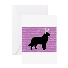 Cute Newfoundland dog Greeting Card