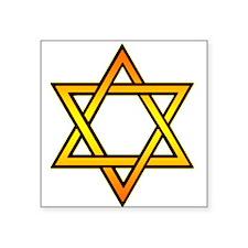 "STAR OF DAVID Square Sticker 3"" x 3"""