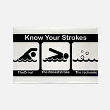 Know Your Strokes Rectangle Magnet