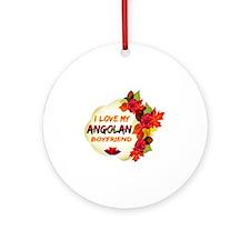 Angolan Boyfriend designs Ornament (Round)