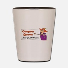 COUPON QUEEN Shot Glass