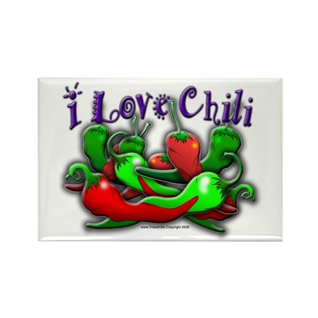 I Love Chili 001 Rectangle Magnet (100 pack)