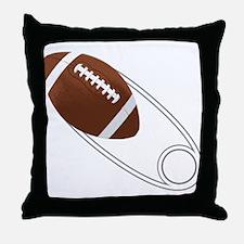 Football Diaper Pin Throw Pillow