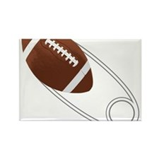 Football Diaper Pin Rectangle Magnet