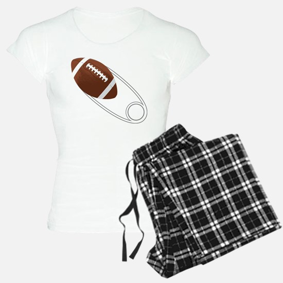 Football Diaper Pin Pajamas