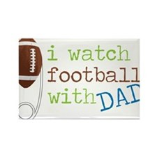 I Watch Football Rectangle Magnet