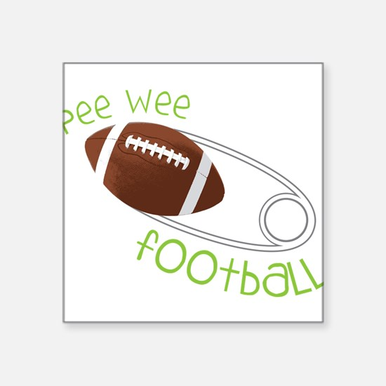 """Pee Wee Football Square Sticker 3"""" x 3"""""""