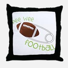 Pee Wee Football Throw Pillow