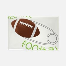 Pee Wee Football Rectangle Magnet