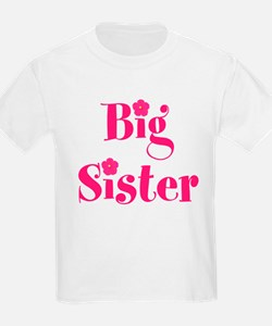 Big Sister Hibiscus Flower T-Shirt
