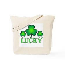 3 Lucky Irish Shamrocks Tote Bag