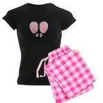 Peace Heart Women's Dark Pajamas