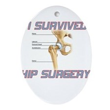 Hip Surgery Ornament (Oval)