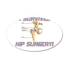 Hip Surgery Wall Decal