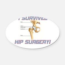 Hip Surgery Oval Car Magnet