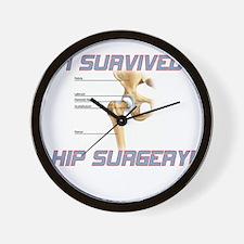 Hip Surgery Wall Clock