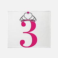 Third Birthday Princess Throw Blanket