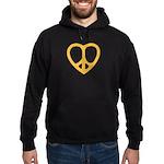 Peace Heart Hoodie (dark)