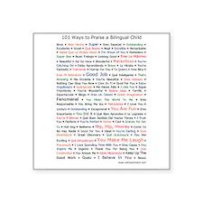 101 Ways to Praise a Bilingual Child Square Sticke