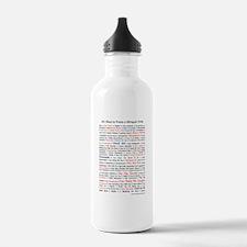 101 Ways to Praise a Bilingual Child Water Bottle