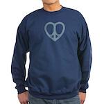 Peace Heart Sweatshirt (dark)