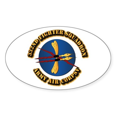 AAC - 332nd Fighter Squadron Sticker (Oval)