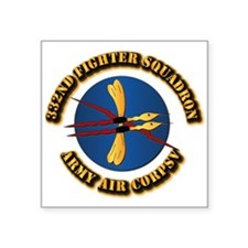 """AAC - 332nd Fighter Squadron Square Sticker 3"""" x 3"""