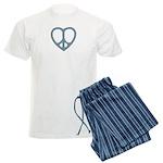 Peace Heart Men's Light Pajamas