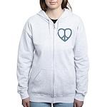 Peace Heart Women's Zip Hoodie