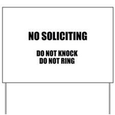 NO SOLICITING GO AWAY Yard Sign