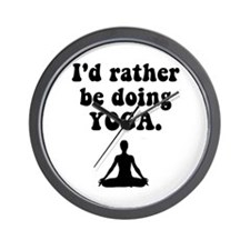 I'd Rather Be Doing Yoga Wall Clock
